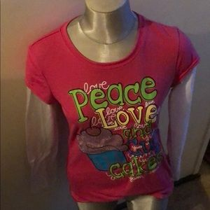 Justice Love Peace and Cupcakes Long-sleeve Tee